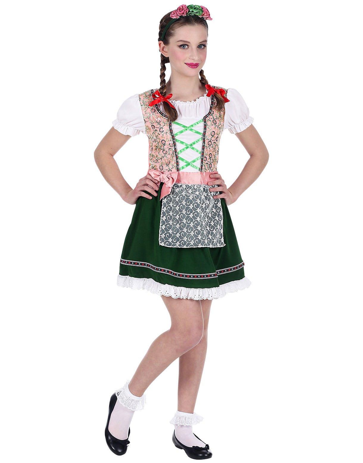 Rosa og Grønt Oktoberfest Kostyme til Barn - Se Alle Våre Kostymer ... c2ea1c33fd70e