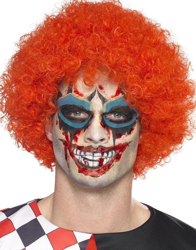 3111e724e Scary Clown Sminkesett med Flash Tattoo