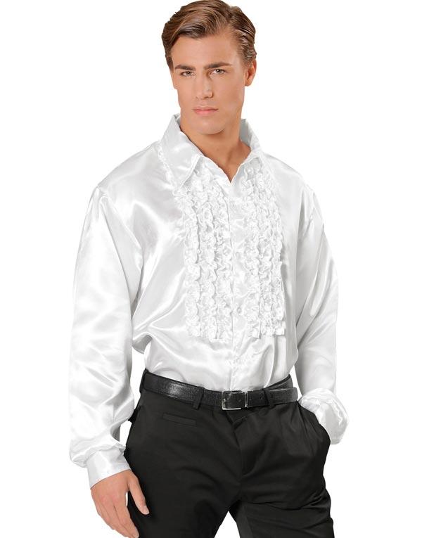 Svart Sateng Skjorte