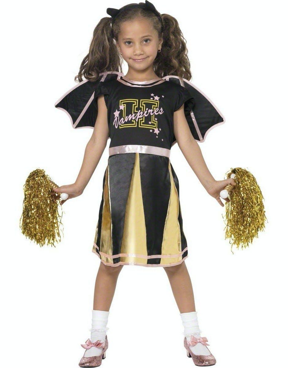 Flaggermus Cheerleader Barnekostyme