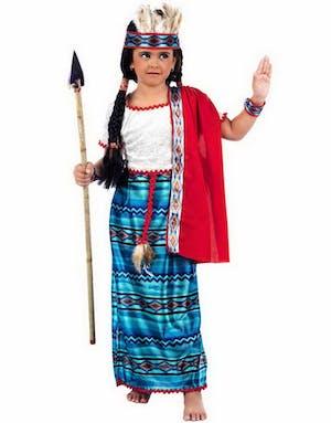 Indiankostym Flicka - Lyxig Barnkostym d1c7fde0c41d3
