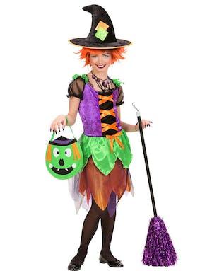 Halloween Häxa Barnkostym 81ab1bb22d648