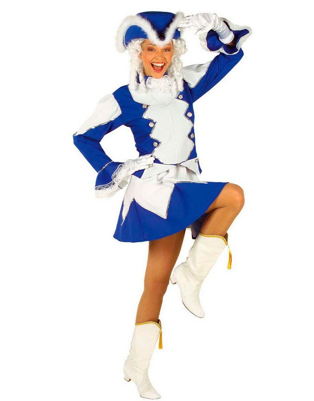 Tamburmajor dräkt i blått och vitt