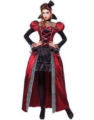addd0360 Viktoriansk Vampyrkostyme til Dame 3 Deler