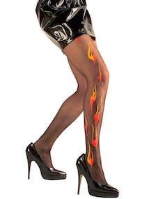 Svarta Strumpbyxor med Flammor 90937e61c9aab