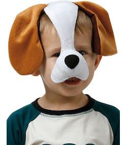 46013505 Hund - Hårbøyle med Maske til Barn