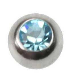 f027cd54685 Glitrende Aqua - 3 mm Stålkula till 1,2 mm stång