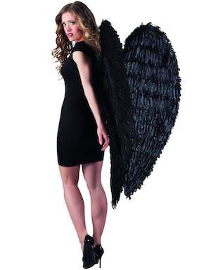 GIGANTISKA Svarta vingar med fjädrar 120x120 cm 557a4415b6629