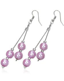 best service 38bb7 9a558 Beautiful Earrings with Pink Hanging Beads