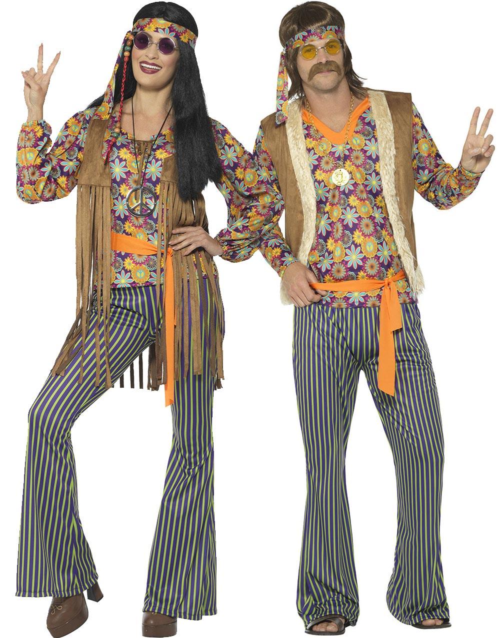 Woodstock Hippie Mann Kostymer for voksne   Festmagasinet
